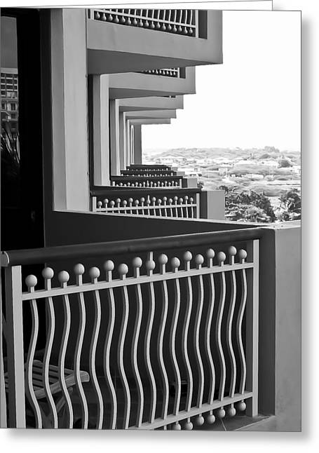View From The Hotel Balcony Greeting Card by Wayne King