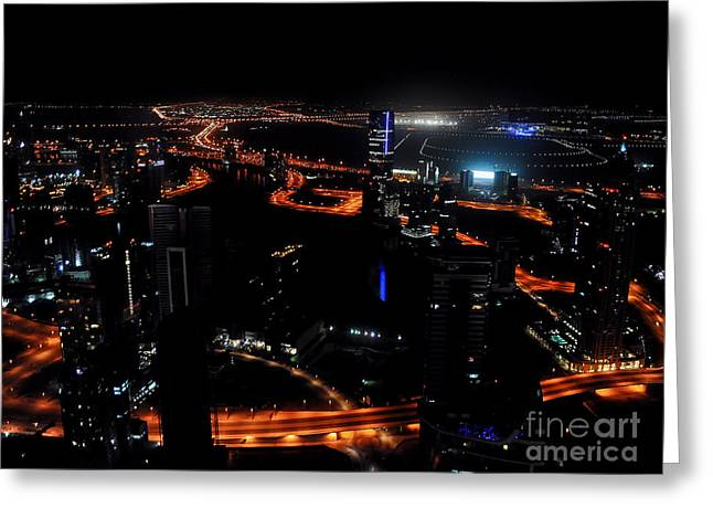 Giclée Fine Art Greeting Cards - View from the JW Marriott Marquis Dubai Hotel Greeting Card by Graham Taylor