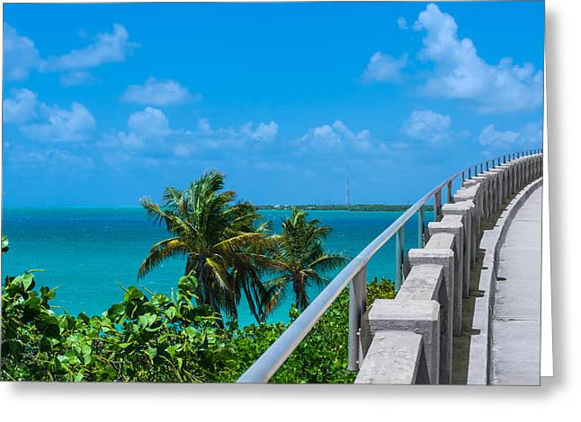 Overseas Railway Greeting Cards - View from the Old Bahia Honda Bridge Greeting Card by John Bailey