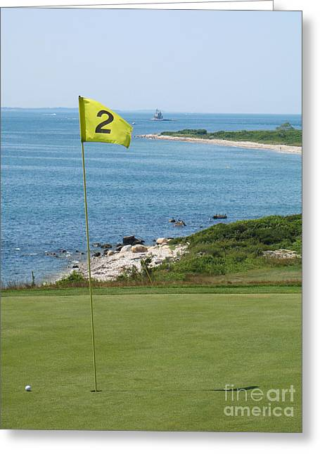 Second Hole Greeting Cards - View from the Second Hole Greeting Card by Fishers Island Photography