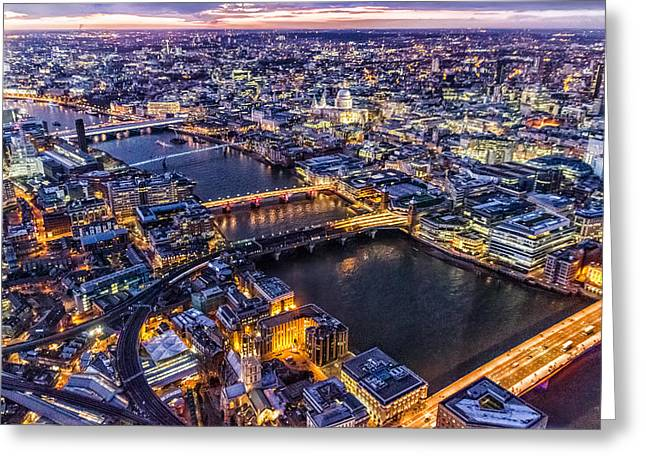 Shards Greeting Cards - View from The Shard london Greeting Card by Ian Hufton