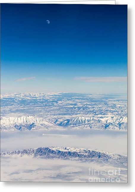 Ski Art Greeting Cards - View from the Sky Greeting Card by Alanna DPhoto