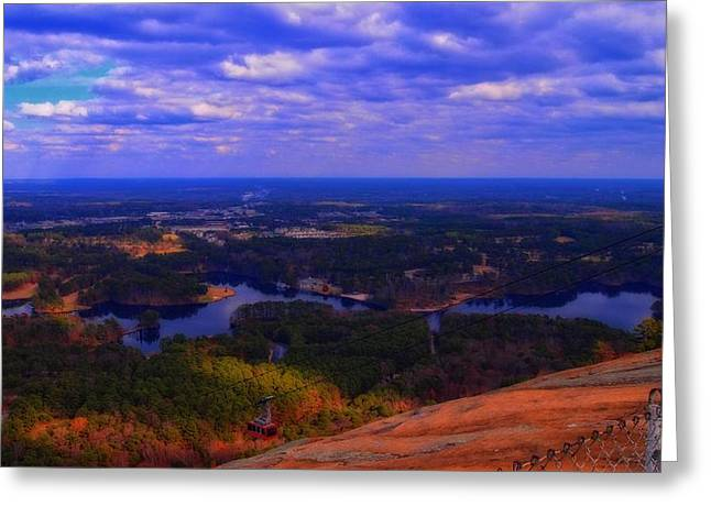 Stonewall Greeting Cards - View From The Top Of Stone Mountain Greeting Card by Dan Sproul