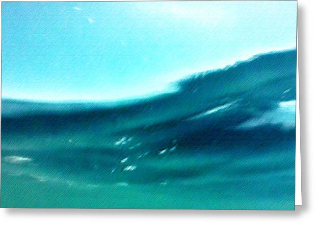 Modernism Pastels Greeting Cards - View from Under the Sea Greeting Card by George Pedro
