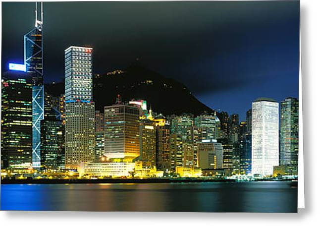 20th Greeting Cards - View From Wanchai, Central District Greeting Card by Panoramic Images