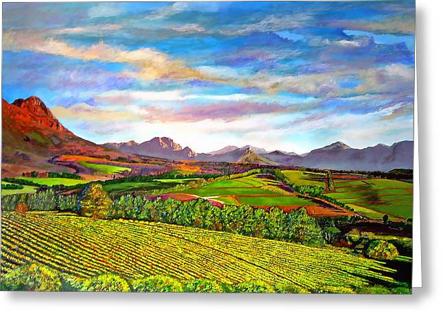 View From Warwick Vineyard Greeting Card by Michael Durst