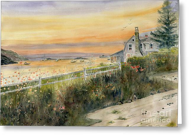 Maine Beach Greeting Cards - View From Wharton Ave  Greeting Card by Melly Terpening