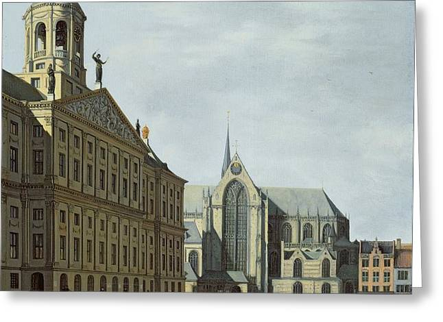 View In Amsterdam, With The Facade Greeting Card by Gerrit Adriaensz Berckheyde