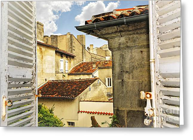Shingles Greeting Cards - View in Cognac Greeting Card by Elena Elisseeva
