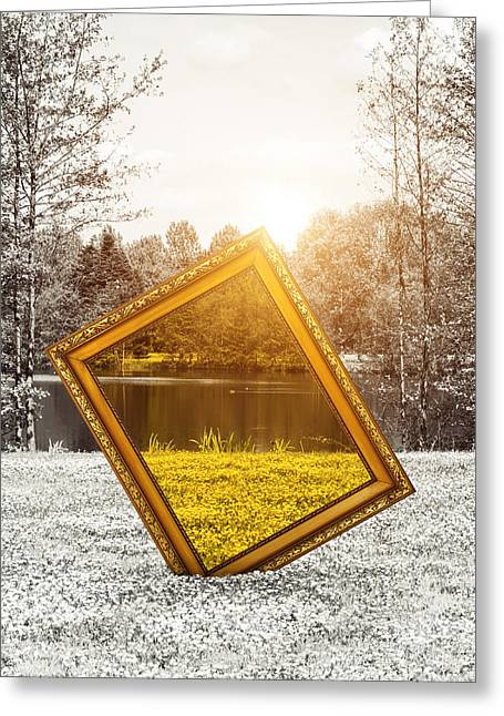 Decor Photography Greeting Cards - View in color Greeting Card by Wim Lanclus