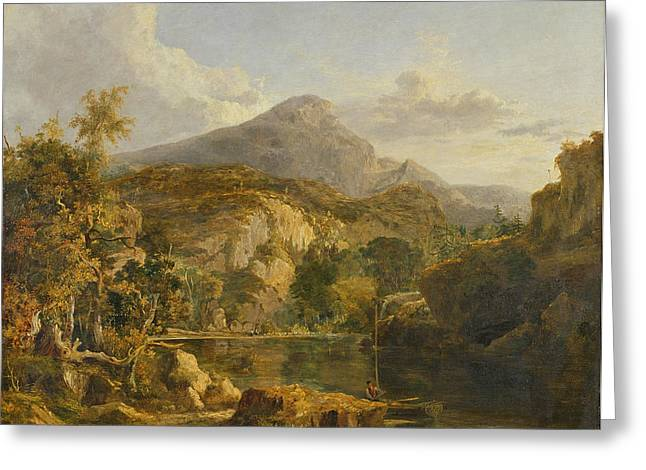 Scottish Paintings Greeting Cards - View In The Highlands, 1827 Greeting Card by George Vincent