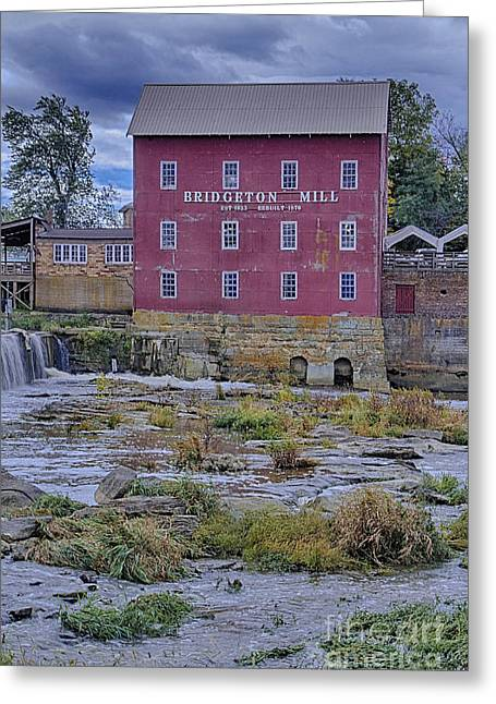 Bridgeton Mill Greeting Cards - View into the Past Greeting Card by Michael J Samuels