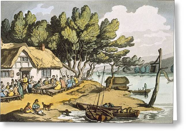 Newport Greeting Cards - View Near Newport, Isle Of Wight Greeting Card by Thomas Rowlandson