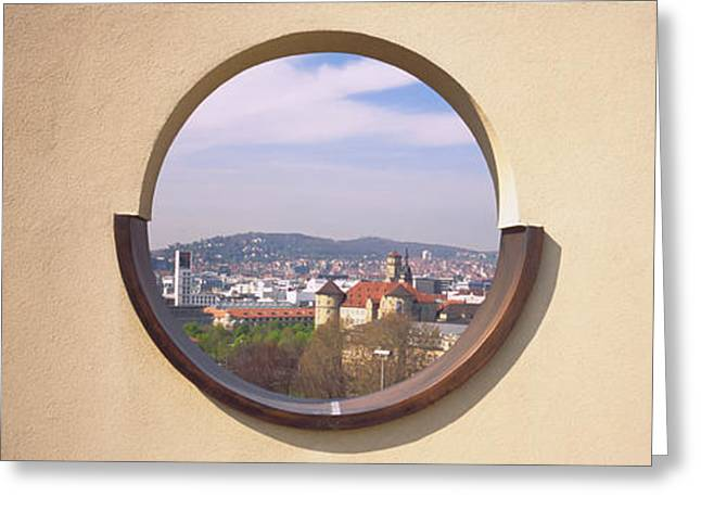 Observation Greeting Cards - View Of A City Through An Observation Greeting Card by Panoramic Images