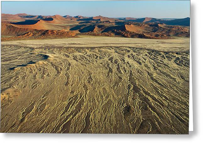 Sand Patterns Greeting Cards - View Of A Desert, Sossusvlei, Namib Greeting Card by Panoramic Images