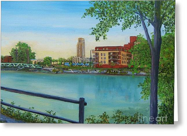 Atwater Greeting Cards - View of Atwater Market from the Canal Greeting Card by Reb Frost