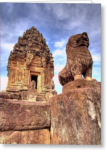 View Of Bakong Temple, Angkor Wat Greeting Card by Jaynes Gallery