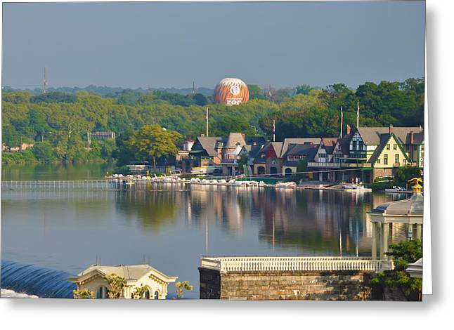Boathouse Row Greeting Cards - View of Boathouse Row  Greeting Card by Bill Cannon