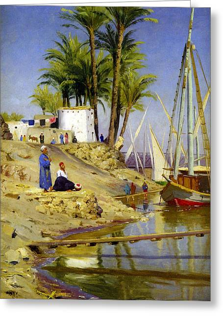 Monsted Greeting Cards - View Of Cairo Greeting Card by Peder Mork Monsted