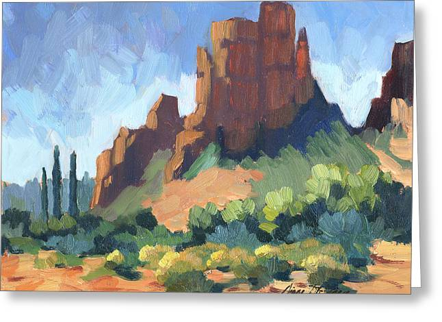 Cathedral Rock Greeting Cards - View of Cathedral Rock Sedona Greeting Card by Diane McClary