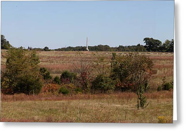 Confederate Monument Greeting Cards - View of Cemetary Ridge I Gettysburg Greeting Card by Jim Vansant