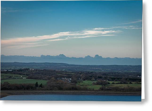 Clouds Greeting Cards - View Of Chorley From Moor Road. Greeting Card by Daniel Kay