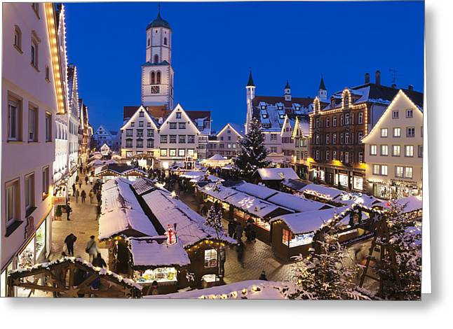 Square Image Greeting Cards - View Of Christmas Fair At St. Martins Greeting Card by Panoramic Images