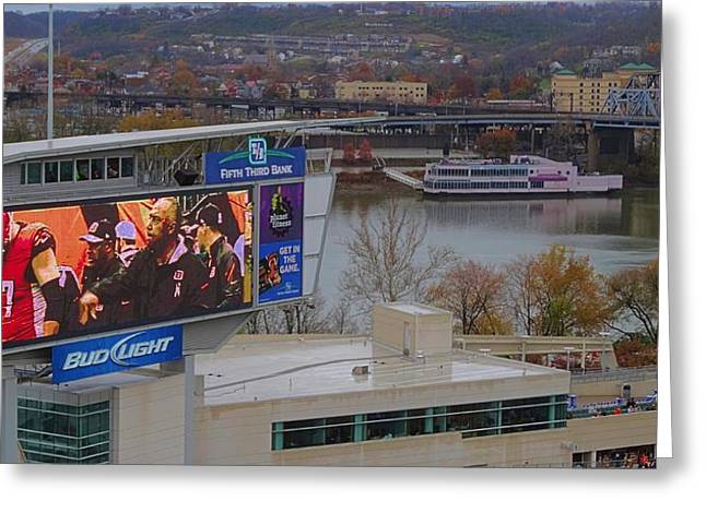 Espn Greeting Cards - View Of Cincinnati Greeting Card by Dan Sproul