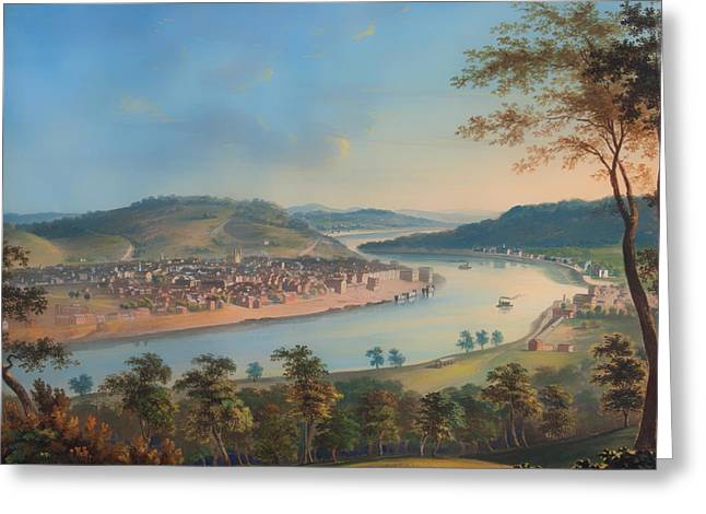 View Of Cincinnati From Covington Greeting Card by Mountain Dreams