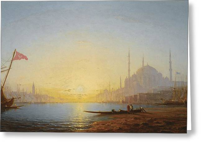 Jihad Greeting Cards - View Of Constantinople Greeting Card by Amedee Rosier