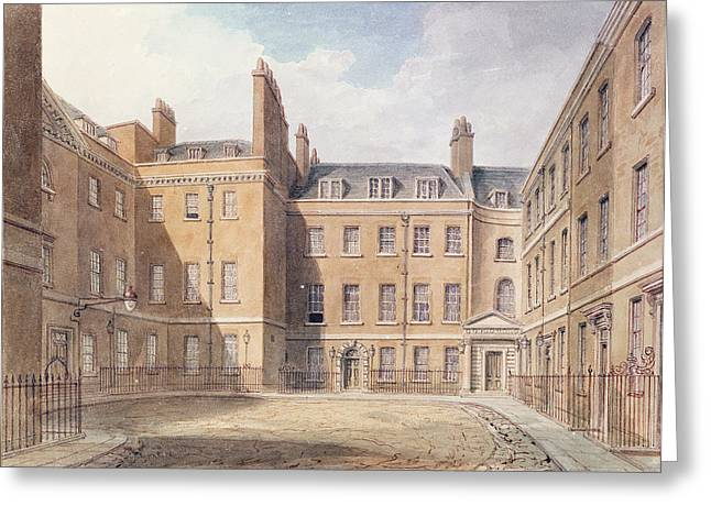 City Street Scene Greeting Cards - View Of Downing Street, Westminster Wc On Paper Greeting Card by John Buckler