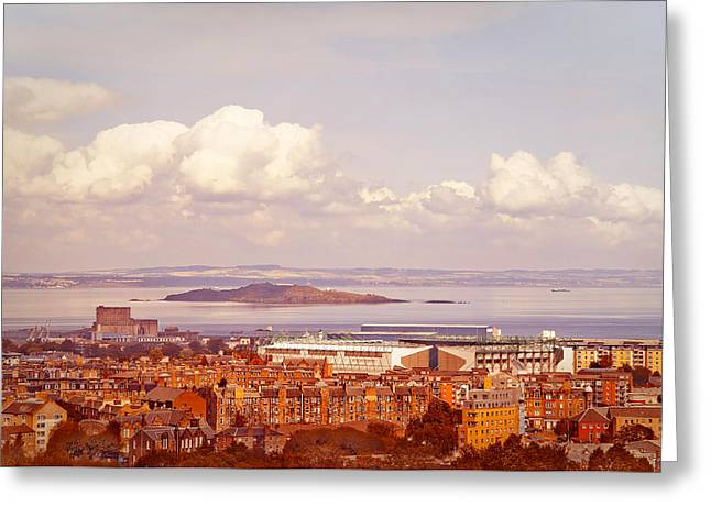 Photgraphy Greeting Cards - View of Edinburgh from Salisbury Crags. Scotland Greeting Card by Jenny Rainbow