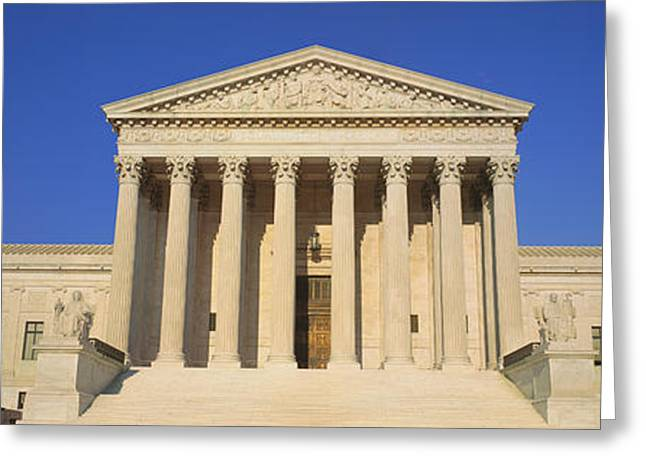 Seat Of Power Greeting Cards - View Of Entire Us Supreme Court Greeting Card by Panoramic Images