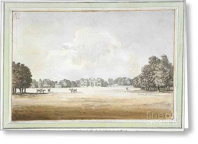 Goodwood Greeting Cards - View Of Goodwood House Greeting Card by British Library