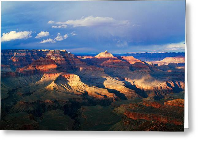Park Scene Greeting Cards - View Of Grand Canyon From Shoshone Greeting Card by Panoramic Images