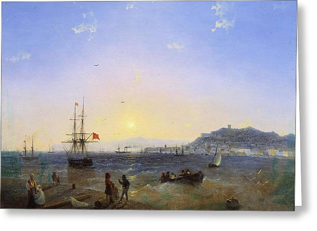 Ivan Greeting Cards - View of Kerch Greeting Card by Ivan Konstantinovich Aivazovsky