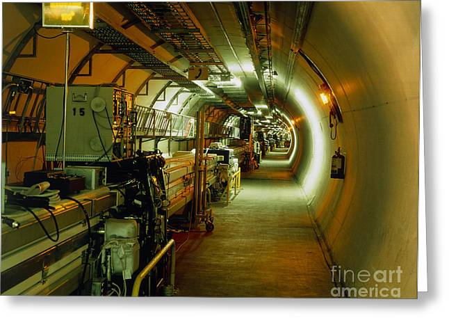 Cern Greeting Cards - View Of Lep Particle Collider At Cern Greeting Card by David Parker