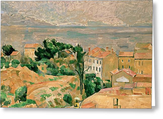 Tall Tree Greeting Cards - View of LEstaque Greeting Card by Paul Cezanne
