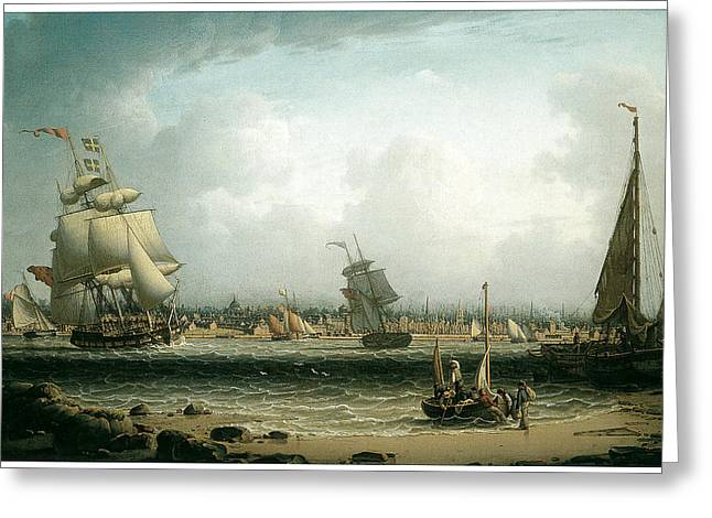 View of Liverpool Greeting Card by Robert Salmon