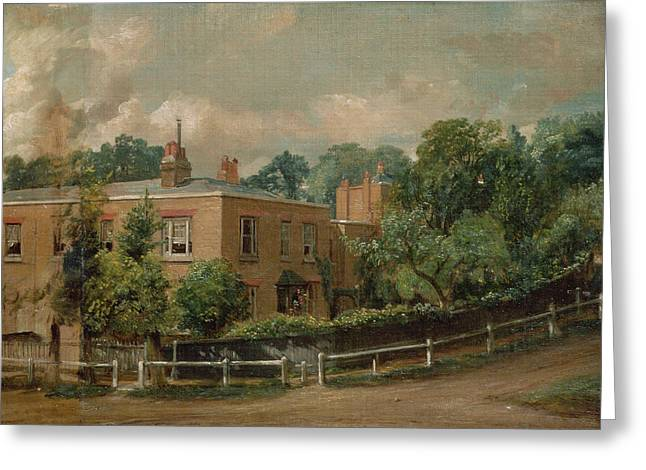 Railing Greeting Cards - View Of Lower Terrace, Hampstead Greeting Card by John Constable