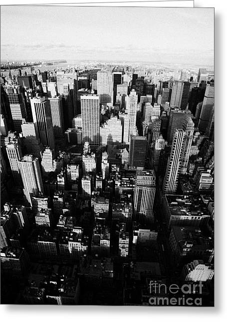 View Of Manhattan North Towards Central Park From Empire State Building Greeting Card by Joe Fox