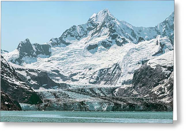 View Of Margerie Glacier In Glacier Bay Greeting Card by Panoramic Images