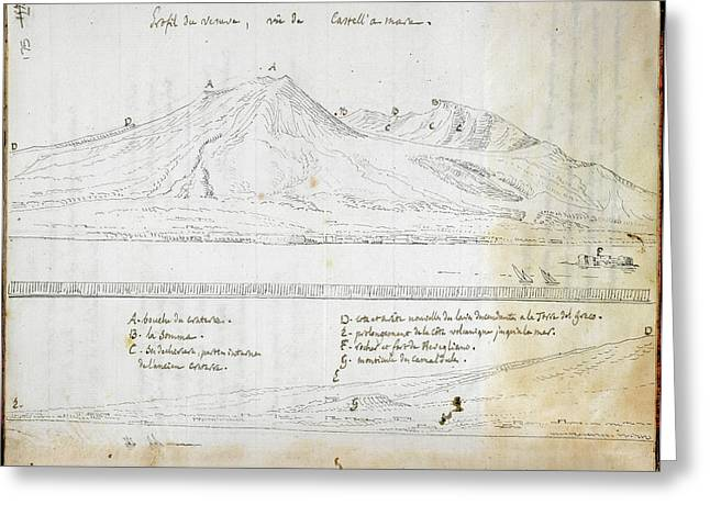View Of Mount Vesuvius Greeting Card by British Library