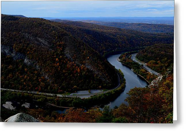 Delaware River Greeting Cards - View of Mt Minsi Greeting Card by James Chesnick