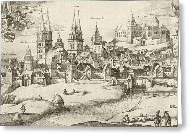View Of Nuremberg, Germany, Dirk Eversen Lons Greeting Card by Dirk Eversen Lons And Nicolaes Visscher (i)