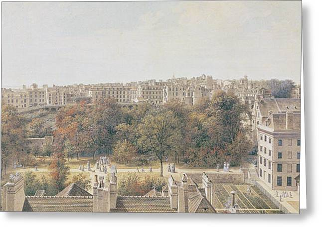 View Of Paris Greeting Card by Louis-Nicolas de Lespinasse
