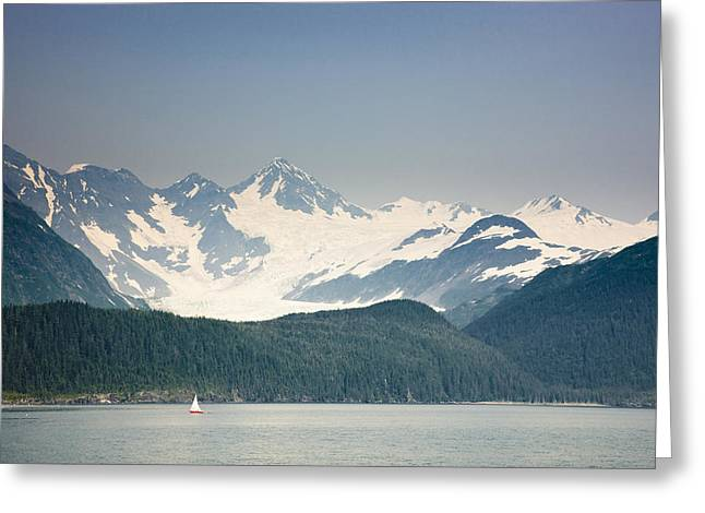 Sailboat Photos Greeting Cards - View Of Passage Canal, Whittier Greeting Card by Kevin Smith