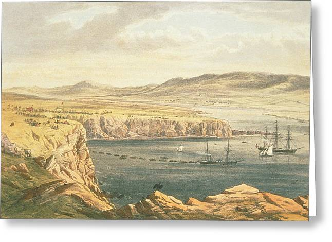 Telecommunications Greeting Cards - View Of Port Magee, Valentia Greeting Card by Robert Dudley