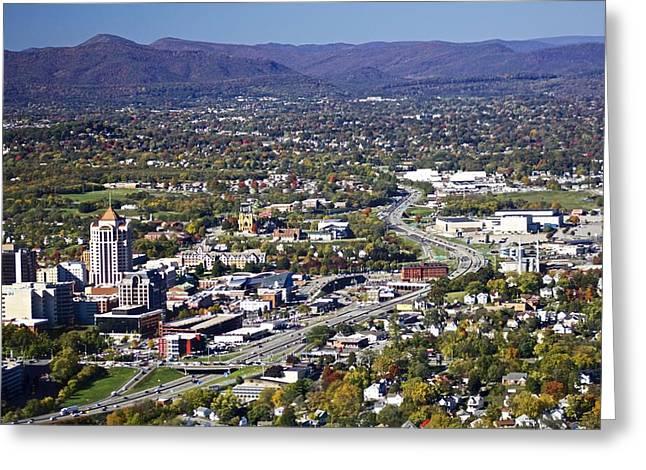Jennifer Lamanca Kaufman Greeting Cards - View of Roanoke VA Greeting Card by Jennifer Lamanca Kaufman