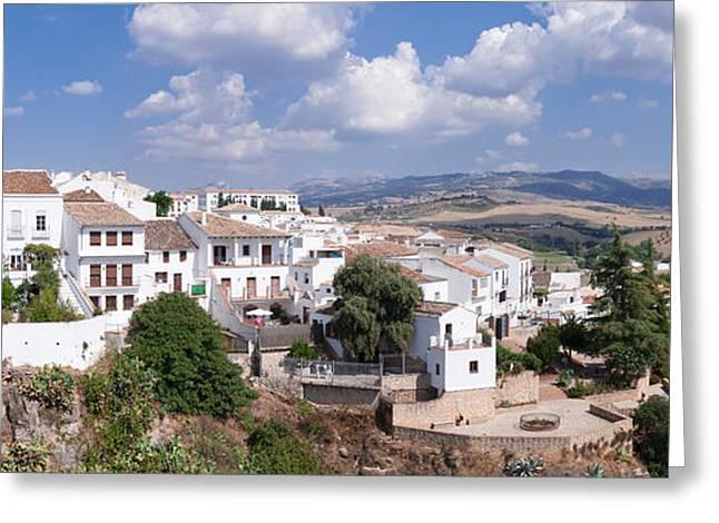 Malaga Greeting Cards - View Of Ronda, Malaga Province Greeting Card by Panoramic Images